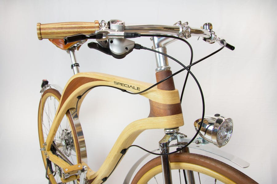 wooden handle for bike milano vintage
