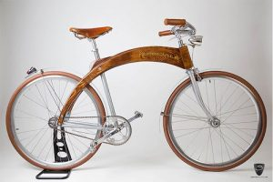 wooden design bike como